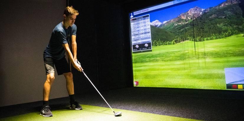 surge entertainment center golf simulators